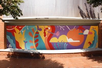 L'associació KM.0 guarneix el pati del Centre Cívic de Torreforta