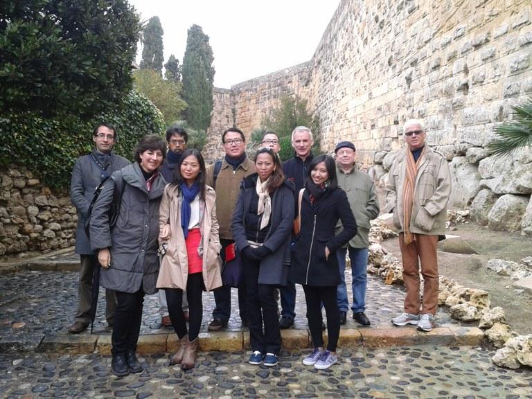 Un grup de periodistes de mitjans de comunicació d'Indonèsia visiten Tarragona