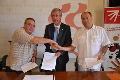 L'Ajuntament i els sindicats UGT i CCOO signen un conveni per millorar l'ocupació en l'àmbit local