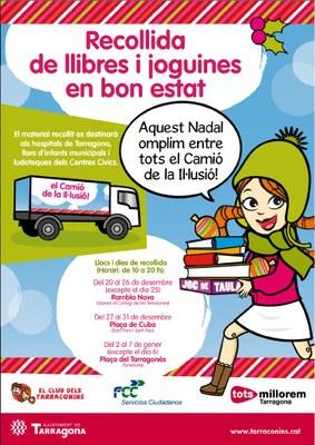 Dilluns s'inicia la campanya de recollida de llibres i joguines del Club dels Tarraconins