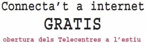Connecta't a Internet gratuïtament als Telecentres de Tarragona