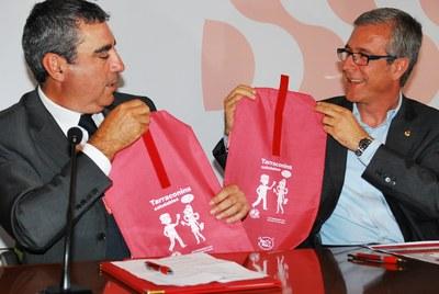 El Club dels Tarraconins i la Fundació Caixa Tarragona aposten junts per l'alimentació saludable amb els nens i nenes de Tarragona