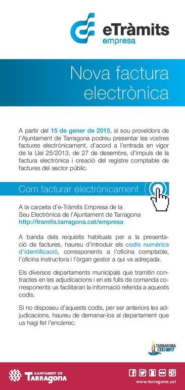 Avui entra en vigor la factura electrònica