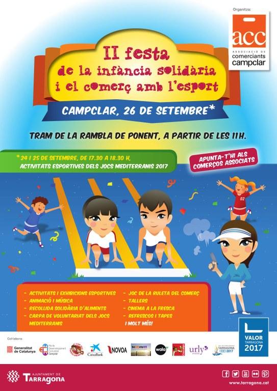 La II Festa de la infància solidària i el comerç s'uneix amb l'esport