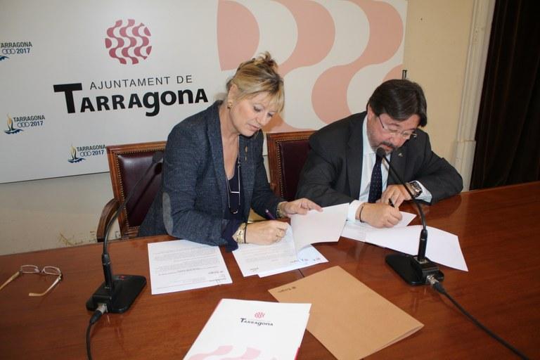 L'Ajuntament i el Consell de Tarragona de PIMEC Comerç signen un conveni de col·laboració