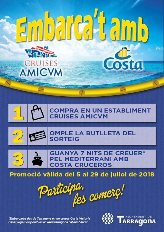 """Campanya """"Embarca't amb Cruises Amicvm i Costa Cruceros!"""""""