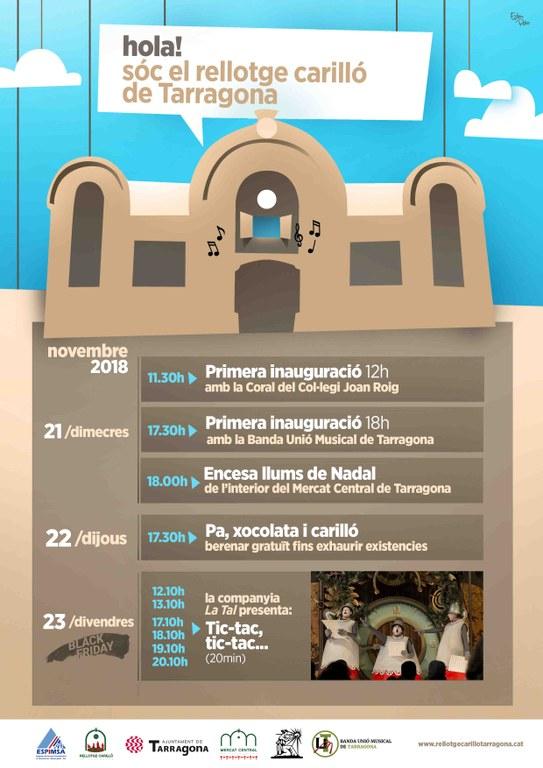 Dimecres, 21 de novembre, a les 11.30 h, s'inaugurarà el carilló al Mercat Central de Tarragona