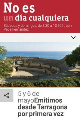 El programa 'No es un día cualquiera' de RNE visita per primer cop Tarragona