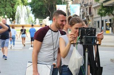 La guardonada cineasta Carla Simón roda un curtmetratge a Tarragona