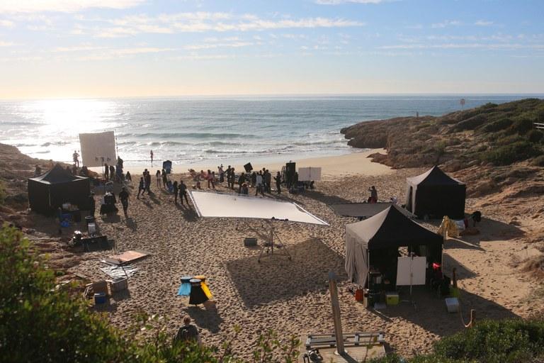 La platja dels Capellans escenari d'un nou anunci de publicitat