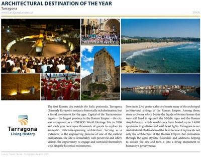 Tarragona rep la distinció de destinació arquitectònica de l'any als premis europeus 2018 de la 'Luxury Travel Guide'