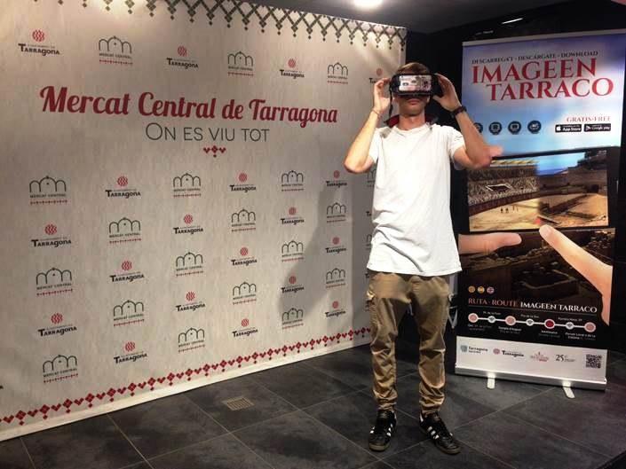 Tarragona Turisme inicia aquest divendres demostracions de l'aplicació de realitat augmentada Imageen Tarraco a diferents indrets de la ciutat