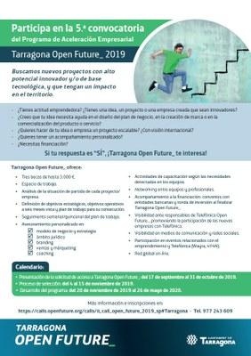 El programa d'acceleració empresarial Tarragona Open Future busca solucions tecnològiques innovadores