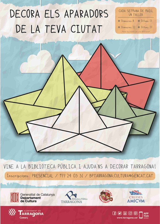 La Biblioteca Pública de Tarragona oferirà tallers infantils per a la decoració d'aparadors