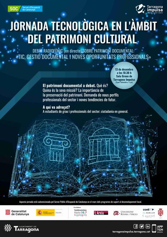 Tarragona Impulsa organitza una jornada tecnològica en l'àmbit del patrimoni cultural