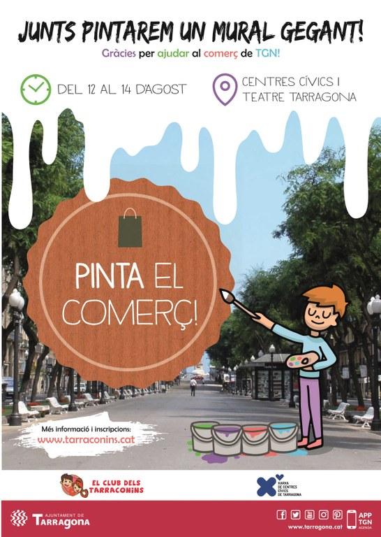 El Club dels Tarraconins participa en la campanya 'Pinta el Comerç'