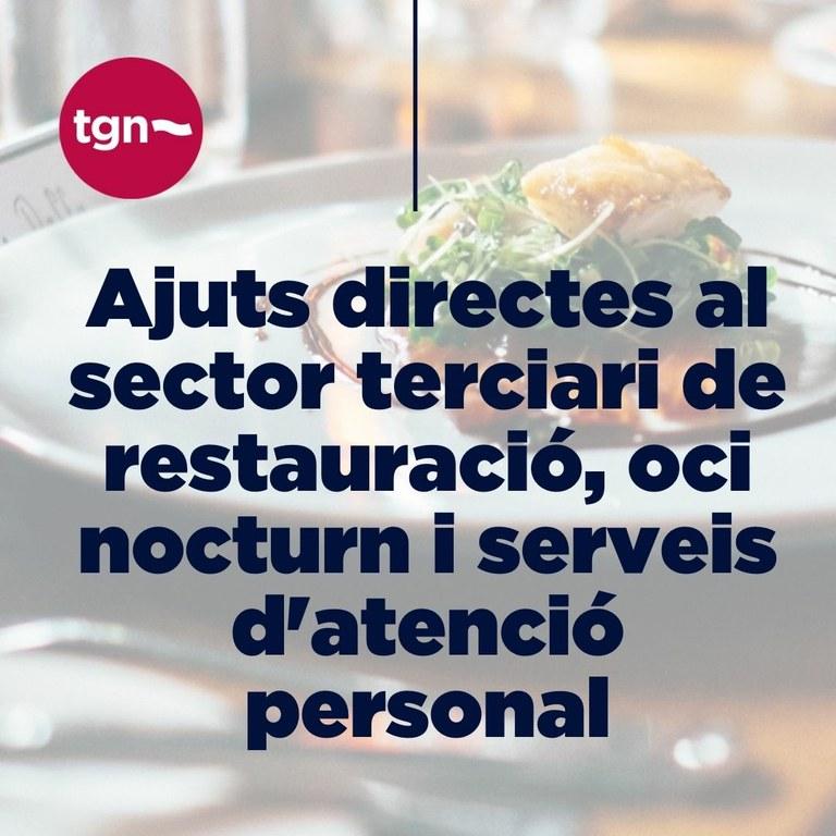 L'Ajuntament de Tarragona obre el termini per sol·licitar una subvenció per als negocis afectats per la segona onada de la pandèmia