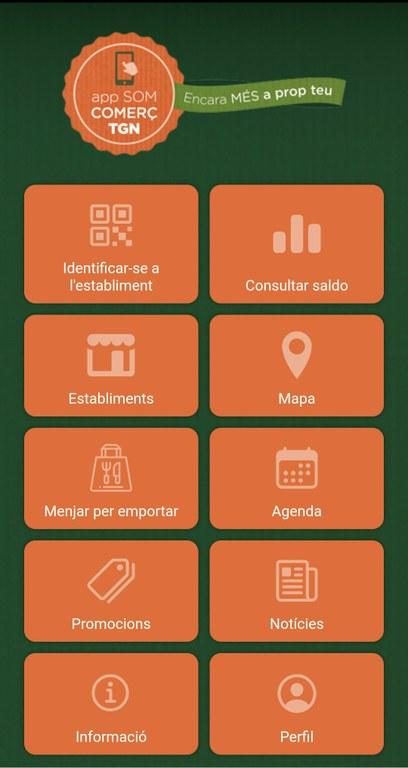 L'app Som Comerç TGN permet la reserva de menjar per emportar