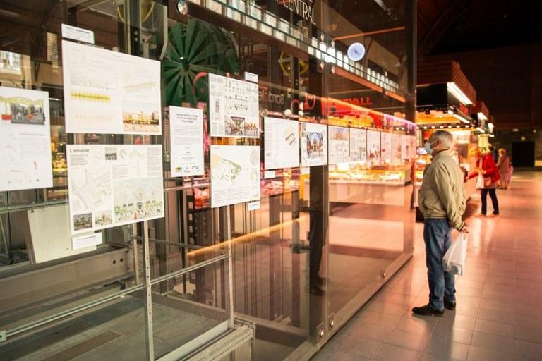 El Mercat Central exposa els 34 projectes presentats al concurs d'humanització de la Plaça Corsini