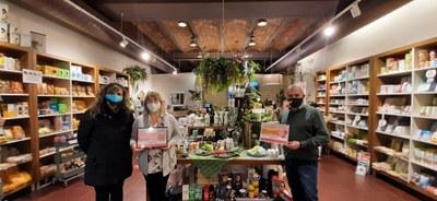 La botiga Santiveri Tarragona, guanyadora del premi del públic del jurat en el Concurs d'aparadors nadalencs