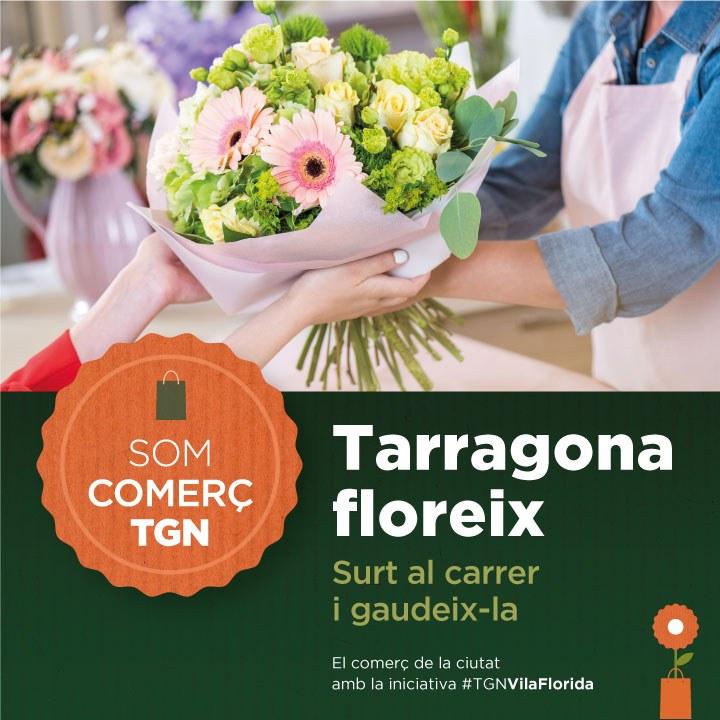 La Conselleria de Comerç se suma a la iniciativa Tarragona, Vila Florida amb la campanya 'Tarragona floreix'