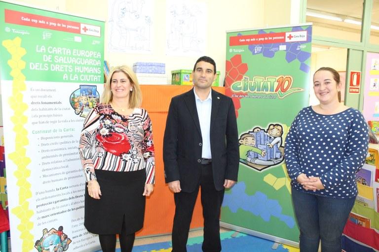 """Ahir es va presentar a l'Escola El Serrallo """"Ciutat 10. El joc dels drets humans a la ciutat"""""""