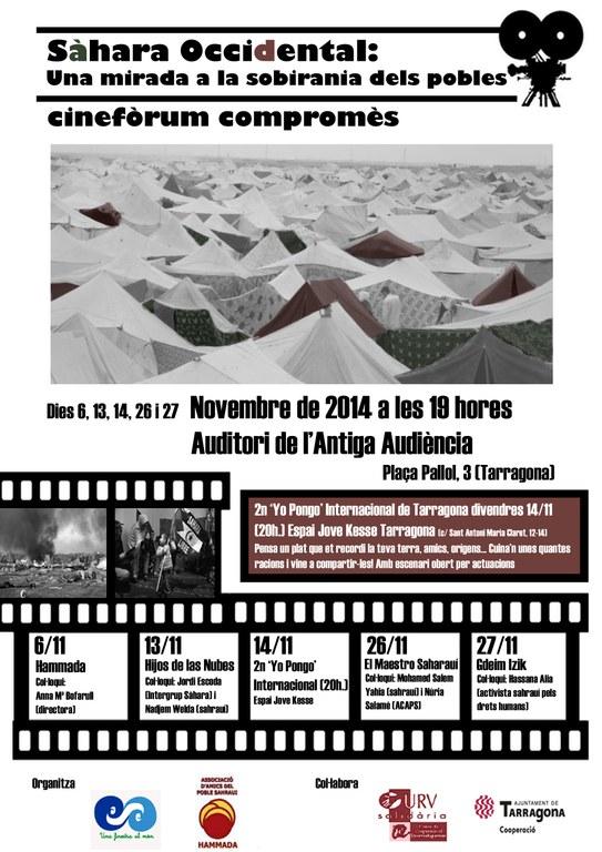 """Dijous 6 de novembre comença el cicle de cinefòrum compromès """"Sàhara occidental: una mirada a la sobirania dels pobles"""""""