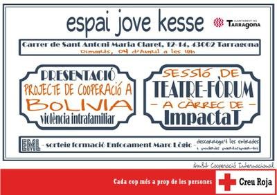 Creu Roja presenta el projecte de cooperació 'Dones i violència intrafamiliar a Santa Cruz, Bolívia'