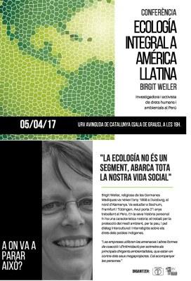 Ecologia integral a Amèrica Llatina, conferència per Birgit Weiler