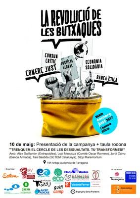 """""""Trenquem el cercle de les desigualtats. Tu transformes!"""" taula rodona de la campanya La Revolució de les Butxaques"""