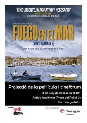 Projecció del documental Fuego en el mar