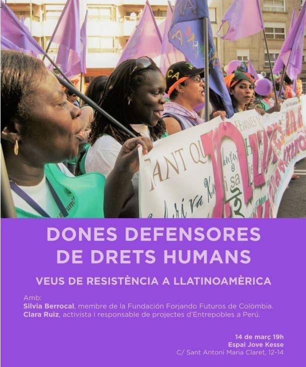 Xerrada de dones defensores dels Drets Humans a l'Espai Jove Kesse