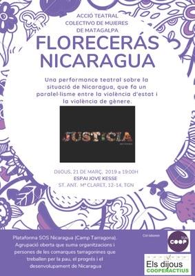 """L'acció teatral """"Florecerás Nicaragua"""", a l'Espai Jove Kesse"""