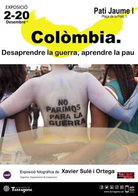 """L'exposició """"Colòmbia. Desaprendre la guerra, aprendre la pau"""" il·lustra al Pati de Jaume i el conflicte en aquest país"""