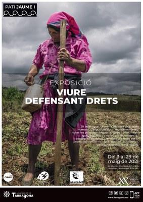 """La Conselleria de Cooperació presenta l'exposició """"Viure defensant drets"""" al Pati Jaume I"""