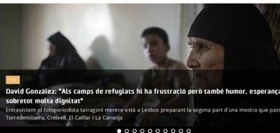 """David González: """"Als camps de refugiats hi ha frustració però també humor, esperança i sobretot molta dignitat"""""""