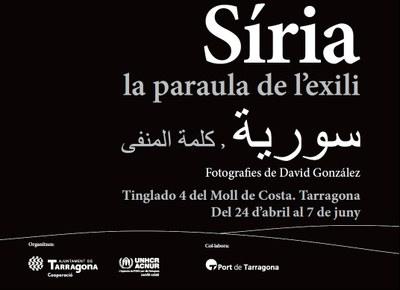 """Tarragona Ràdio visita l'exposició """"Síria, la paraula de l'exili"""" amb David González"""