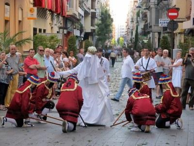 Arriba Santa Tecla Petita i la Mostra de Folklore Viu
