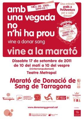 Dissabte 17 de setembre torna la Marató de Donació de Sang