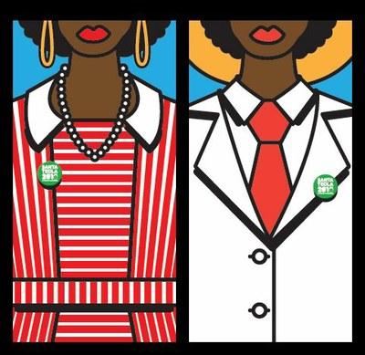 Els gegantons Negritos, protagonistes de la imatge de Santa Tecla 2010