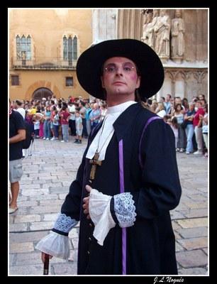 L'actor Oriol Grau, perpetuador de la Santa Tecla d'enguany