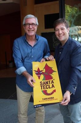 L'alcalde de Tarragona rep el pregoner de la festa major, Carlos Latre