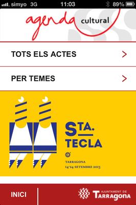 """L'app """"Tarragona Agenda Cultural"""" conté tot el programa oficial de les festes de Santa Tecla"""