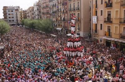 Tot a punt per a la Diada castellera del primer diumenge de festes