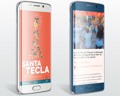 Tota la programació de Santa Tecla disponible a l'aplicació per a mòbils 'Santa Tecla 17'