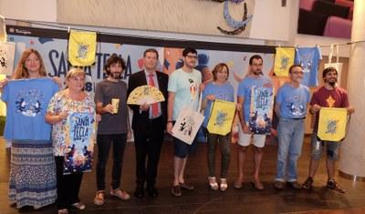El popular 'Visca a Santa Tecla' protagonitza el cartell de les Festes, obra d'Edu Polo