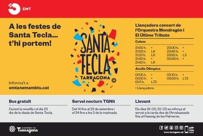Servei de transport públic per al concert de l'Orquesta Mondragon a l'Anella Mediterrània