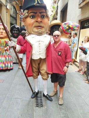 Jaume Sendra, portador dels Nanos Vells, perpetuador de les Festes de Santa Tecla 2019