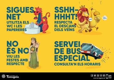 L'Ajuntament de Tarragona reforçarà el dispositiu de neteja, seguretat i transport públic per Santa Tecla