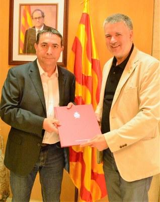 L'alcalde Ricomà rep al director del Complex Industrial de Repsol a Tarragona
